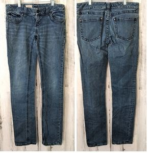 FREE PEOPLE Skinny Stretch Distressed Jeans W28